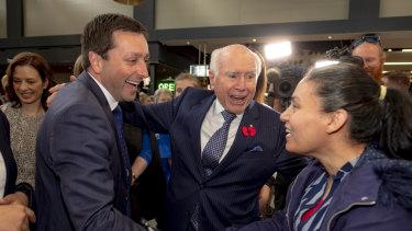 Mr Howard and Mr Guy meet a big fan