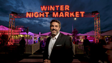 Stan Liacos, CEO of Queen Vic market at the Night market.