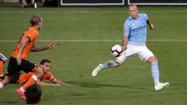 Ritchie De Laet opens the scoring for Melbourne City.