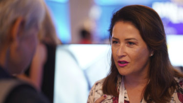 Renee Welsh, co-founder of Booking Boss, at the Dell Women's Entrepreneur Network conference in Singapore.