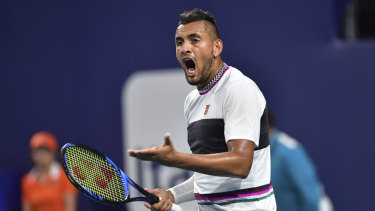Nick Kyrgios served underarm, and won the points.