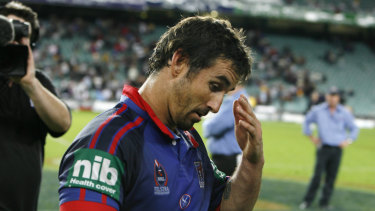 """No regrets: Andrew Johns says he was """"looked after better than anyone at Newcastle"""" during his playing days."""