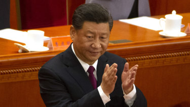 Chinese President Xi Jinping during his appearance on Tuesday.