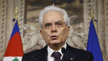 Italian President Sergio Mattarella.