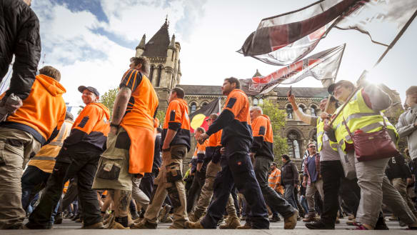 150,000 expected to march through Melbourne CBD in ACTU rally