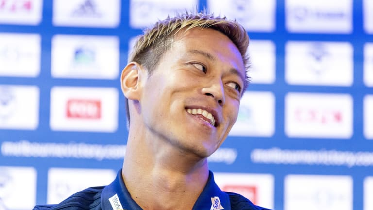Keisuke Honda is yet to take the field for Victory.