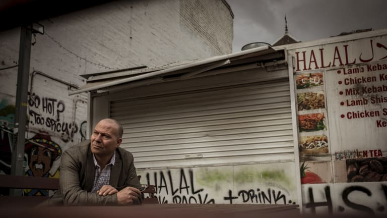 Ahmed Abou Ahmed outside his keban van which has been ordered to move by VCAT.