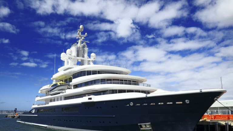 A court in April ordered Akhmedov to hand over the yacht, valued at roughly $US500 million, to his ex-wife. It has since been impounded by authorities in Dubai, where it had turned up for maintenance.