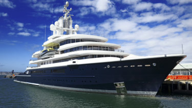 in April ordered Akhmedov to hand over the yacht, valued at roughly $US500 million, to his ex-wife. It has since been impounded by authorities in Dubai, where it had turned up for maintenance.