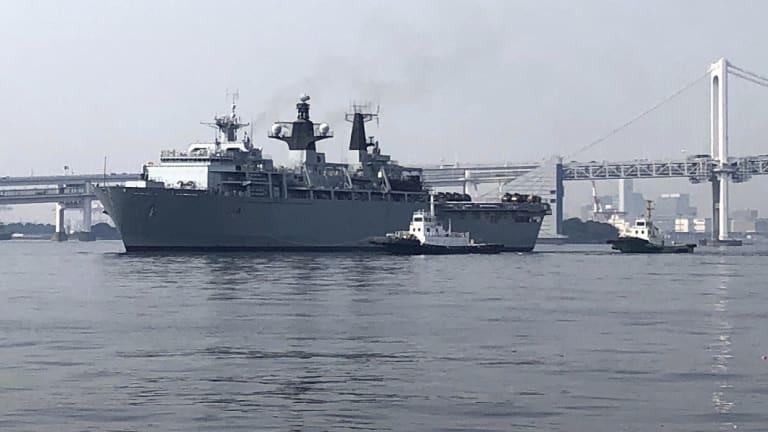 British Royal Navy's HMS Albion.