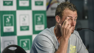 No comment: Lleyton Hewitt wasn't interested in adding further commentary to the Tomic spat.