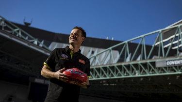 Shane McInerney broke the AFL umpiring games record last month.
