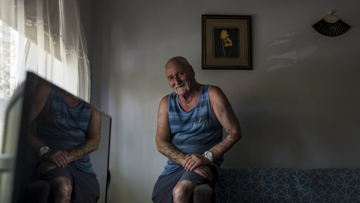 Graeme Starr's life has turned around because he got permanent public housing.