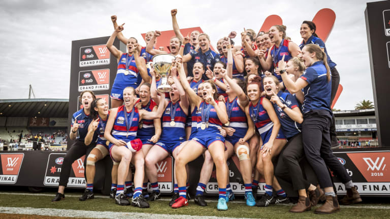 Western Bulldogs, AFLW premiers for 2018.
