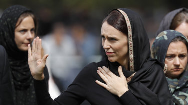 New Zealand Prime Minister Jacinda Ardern said she didn't think twice about wearing a black hijab when comforting victims of the attack.