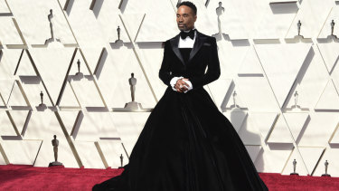 Billy Porter arrives at the Dolby Theatre in Los Angeles.