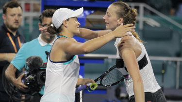 Petra Kvitova was one of three players inside the top 12 Barty overcame in Miami.