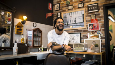 Zeke Jattan works at Blunt Barbers in West Footscray.