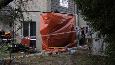 The house sustained extensive structural damage as a result of the crash.