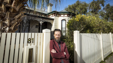 Heritage activist Adam Ford in front of the Ascot Vale home.