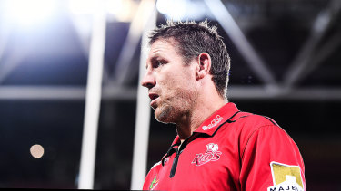 Ex-All Black and Bronco Brad Thorn is in his third year at the helm of the Queensland Reds.