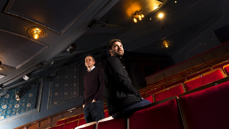 Brett Banakis, scenic supervisor of Harry Potter and the Cursed Child, and technical director Gary Beestone, have revamped the Princess Theatre for their show.