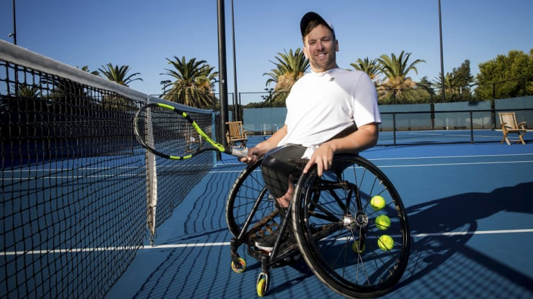 Dream fulfilled: Dylan Alcott is heading to Wimbledon.