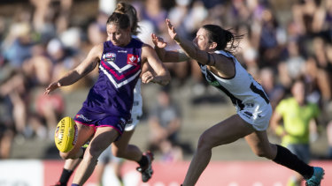 Bowers (left) has improved with every round in her first AFLW season without injury.