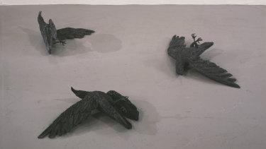 Crows, 2015, by Kiki Smith