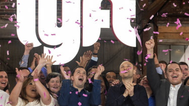 After a glittering debut, Lyft shares tumbled below its IPO price.
