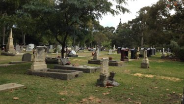 A new burial section after renewal.