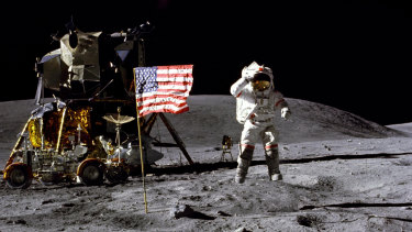 The US has a target to return to the moon by 2024.