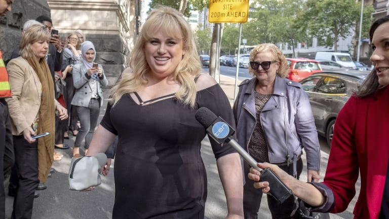 Rebel Wilson pictured outside the Court of Appeal in April.