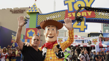 "Tom Hanks and ""Woody"" at the world premiere of Toy Story 4 on Tuesday."
