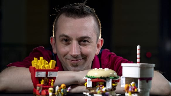 Do you want fries with that? Kale Frost will display his Food Stand Diners design at Brickvention, a fan-run Lego expo on at Royal Exhibition Building this weekend.