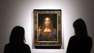 Leonardo da Vinci's Salvator Mundi captured the world's attention when it sold for $US450 million in 2017.