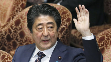 Japanese Prime Minister Abe Shinzo, also known as Shinzo Abe.
