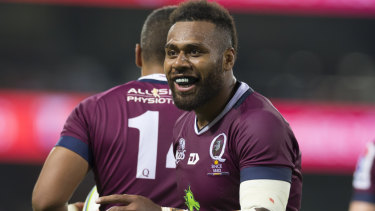 Samu Kerevi will sit out the Reds' match with the Chiefs in New Zealand.