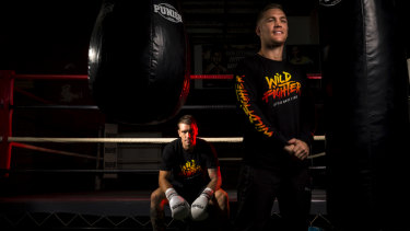 Will Tomlinson (right) is starting a new boxing promotion aimed at giving his boxers a better career, such as Jason Whateley (left).
