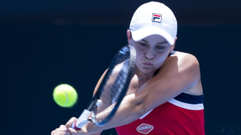 Breakthrough: Ash Barty has rocketed up the rankings after returning to the tennis circuit.