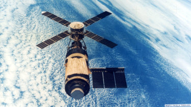 Skylab in 1979, at the end of its mission.