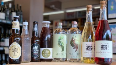 Some of the range of non-alcoholic beverages available from Ainslie Cellars and the Ainslie IGA.