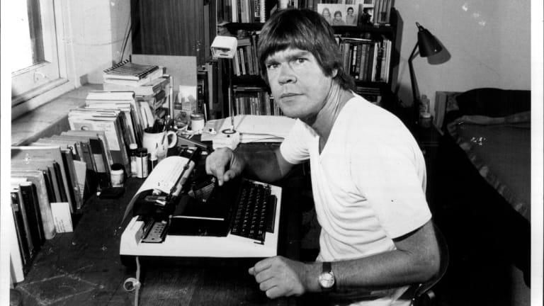 """Peter Corris ... script-writing is """"more like jottings"""", April 06, 1984."""