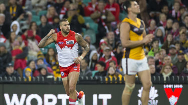Lance Franklin has not played since hurting his hamstring in round 14.