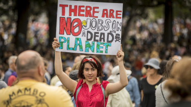 Tens of thousands stood in solidarity with Climate action then marched through the streets of Melbourne on Friday.