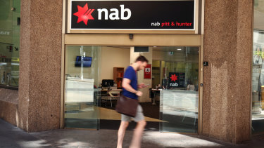 NAB's retail business suffered from the big banks' intense competition for customers.