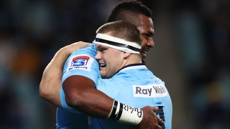 Straight shooter: Robertson hopes the Waratahs can go deep into the Super Rugby finals this season.