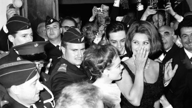 Sophia Loren at the opening of the 1962 Cannes Film Festival.