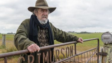 Michael Caton in Rams, which is being filmed in Mount Barker, in WA's Great Southern.