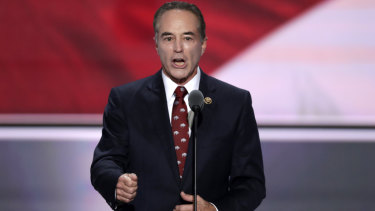 Chris Collins, pictured here nominating Donald Trump as the Republican presidential candidate in 2016.
